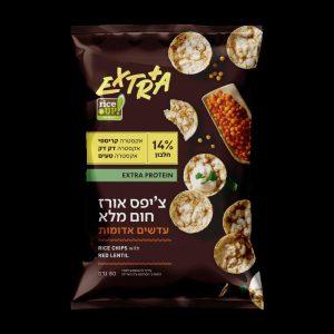 אקסטרה ציפס אורז עדשים אדומות צילום א.ל ייצור ושיווק